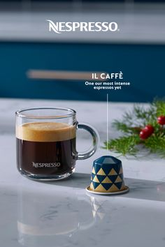 Holiday party planning can be stressful and tiring; here's something to make it go smoother. Introducing Il Caffè from Nespresso's wide variety of limited edition Italian-inspired coffees. It's one of our most intense espressos yet. Nespresso Recipes, Nespresso Usa, Italian Espresso, Home Coffee Stations, Coffee Corner, Coffee And Books, Coffee Pods, Holiday Parties, Party Planning