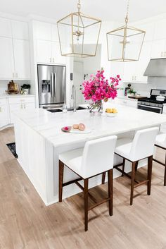 Marble island kitchen