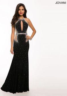 Jovani Cut Out Back Dress 23046