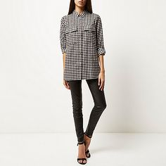 We are loving this Limited Edition black check button-up shirt #RiverIsland