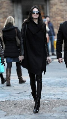 The Most Standout #StreetStyle at #LFW Fall 2014 // Kendall Jenner in all black