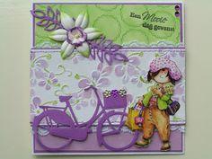 Trijntjes Kaarten: juli 2012 Marianne Design Cards, 3d Cards, Bicycles, Dame, Lunch Box, How To Make, Inspiration, Vintage, Biblical Inspiration