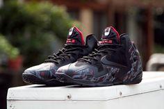"20a0902e65f1cb Nike Lebron XI (11) ""Bloody Bat King"" Customs by Sneaker Bow Lebron"