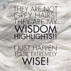 hair humor | grey hair #pmtslombard #paulmitchell #hairhumor #funny #wisdom #greyhair #highlights