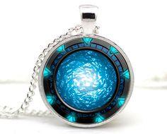Stargate Portal Atlantis Necklace by JustForGeek on Etsy