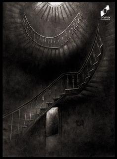 Old staircase drawn by Alicja Prusińska in DOMIN Radom drawing school / Stara klatka schodowa narysowana przez Alicję Prusińską w szkole rysunku DOMIN Radom https://www.facebook.com/DominRadom?fref=ts