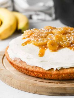 #ad This quick and easy Banana Bread Cake is baked without an Oven with the Remoska 3-in-1 cooker! The one bowl banana cake is topped with a classic cream cheese frosting and caramelised bananas - perfect for afternoon tea or dessert during your next camping or caravan trip! Banana Bread Cake, Easy Banana Bread, Condensed Milk Cake, Afternoon Tea Cakes, Caramelized Bananas, Cake With Cream Cheese, Coffee Cake, No Bake Cake, Cake Recipes