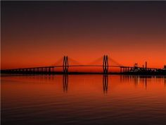 Sunrise over Houston Ship Channel at the Fred Hartman Bridge from HomeGrown Texan FB page