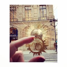 Sun big hoops silver gold plated #antoniakarra #earrings #paris #louisvuitton