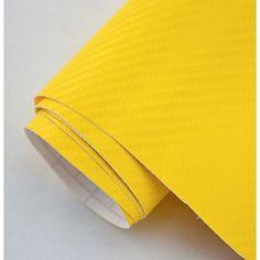 Sarı Hava Kanallı Karbon Folyo 152 Cm X 100 Cm