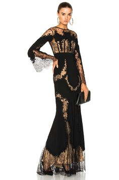 f99c3d3bdec Lace Long Sleeve Gown in Black Long Sleeve Lace Gown