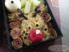 A Merry Christmas bento! Bento Box, Cute Food, Awesome Stuff, Merry Christmas, Boxes, Cooking, Merry Little Christmas, Kitchen, Crates