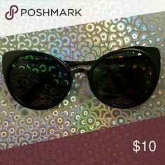 Cat Eye Sunnies Black cat eye shaped  sunnies Hot Topic Accessories Glasses
