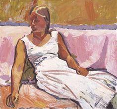 Cuno Amiet    Sitzendes Mädchen, 1915 Öl auf Leinwand 91.5 x 98.5 cm