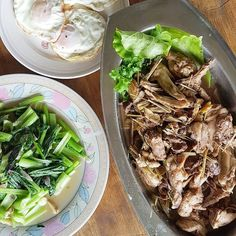From farm to table. Lunch at Alvin's Nature Farm with fresh pick vegetables and eggs with lemongrass chicken.