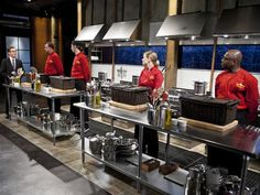 """What are you watching on TV these days? """"Competitive cooking shows like 'Chopped.'"""""""