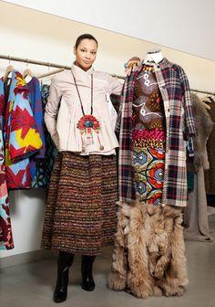 Bold prints: fashion designer Stella Jean, photographed in Milan, February 2013. Photograph: Federico Ciamei/Luz Photo