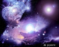 Fantasy Space Nebula Wallpaper Mural by Magic Murals - Kosmos 3d Wallpaper Ceiling, Nebula Wallpaper, Photo Wallpaper, Custom Wallpaper, Wall Wallpaper, Wings Wallpaper, Colorful Wallpaper, Galaxy Wallpaper, Wall Decal Sticker