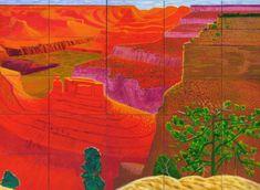 David Hockney - A Closer Grand Canyon (1998) - Royal Academy of Arts London