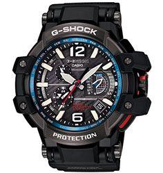 Casio - G-Shock - GravityMaster Series - GPS Hybrid Wave Ceptor - Black/Blue - GPW1000-1A