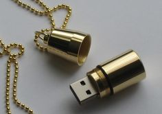 A stylish USB drive that you can wear! I'm totally into this ~ Love it!