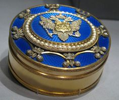 Fabergé jewelled box, workmaster Michael Perchin, St Petersburg, 1895-1899