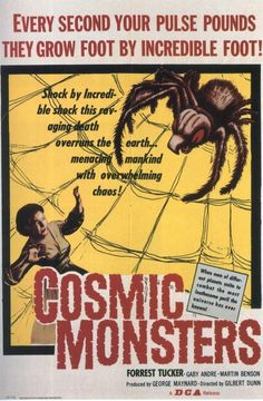vintage movie poster:  cosmic monsters 1958