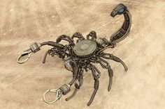 Steampunk Scorpion Wire Sculpture with by CatherinetteRings