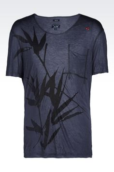 Armani Jeans Men Print t Shirt - T SHIRT IN VISCOSE JERSEY Armani Jeans Official Online Store