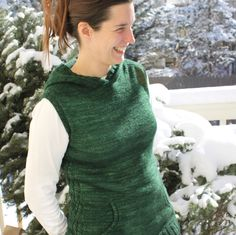 Quibble is a comfortable, yet stylish vest that is knit from the crown of the hood to the hem in one piece. The hood is cast on using Judy's Magic Cast On method and is shaped using increases and short rows. The cable pattern on the side seams give Quibble a subtle feminine flair. This pattern also includes instructions for a hoodless version of Quibble.