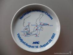 Coleccionismo: Plato souvenir crucero Norwegian American Cruises 1982 Porcelana Rosenthal (Germany) - Foto 2 - 55985966