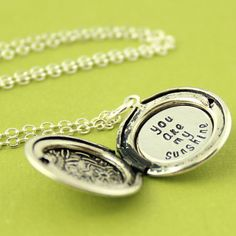Personalized Locket Necklace  Custom Floral by SpiffingJewelry
