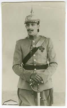 King Alfonso of Spain in cavalry uniform