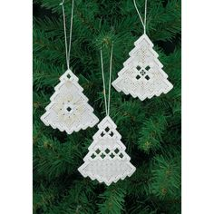 Christmas Tree Hardanger Ornaments - The Fox Collection