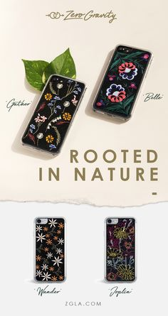 ZERO GRAVITY unique embroidered cases available in iPhone 6, 6 Plus, 7 and 7 Plus!