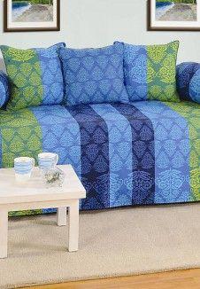 Diwan e Khaas  BLUE Standard Diwan Set (6 Pcs Set)