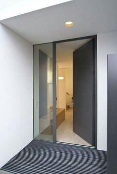Berschneider + Berschneider, Architekten BDA + Innenarchitekten, Neumarkt: Neubau WH M Regensburg Front Door Entrance, House Entrance, Door Design, Exterior Design, Modern Door, House Doors, House Extensions, House Front, Windows And Doors