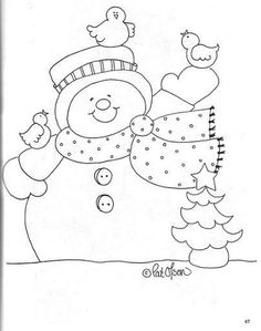 Easy Frosty coloring printable perfect for seniors with Alzheimer's. Christmas Colors, Christmas Art, Christmas Projects, Christmas Applique, Christmas Embroidery, Bird Crafts, Snowman Crafts, Christmas Templates, Christmas Printables