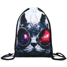 Item Type: BackpacksBackpacks Type: SoftbackCarrying System: Arcuate Shoulder StrapExterior: NoneSize: 30*39cmRain Cover: NoInterior: Interior Key Chain HolderHandle/Strap Type: Soft HandleClosure Type: StringDecoration: NoneGender: UnisexStyle: FashionLining Material: PolyesterMain Material: NylonCapacity: Below 20 LitreModel Number: 27581Technics: Digital PrintingPattern Type: catbackpacks: men backpackpouch: lady backpackgirl backpack: branch backpackBackpack Usage: Daily…