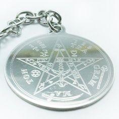 Tetragramaton Grabado en Acero + Cadena/llavero