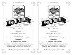 Ribbon cutting ceremony program template program for the ribbon ribbon cutting ceremony program template program for the ribbon cutting ceremony of the casey jones home military inspiration pinterest stopboris Gallery