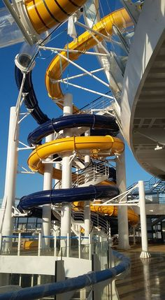 Perfect Storm water slides on Harmony of the Seas.
