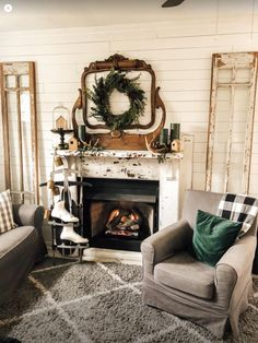 I want a mantel in the Guest Shed with a mirror frame. Rustic Mantel, Vintage Country, Shed, Cottage, Mirror, Frame, Diy, House, Home Decor