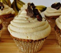 Vegan Banana Peanut Butter Chocolate Chunk Cupcakes