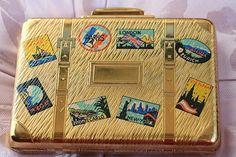 FREE SHIPPING Vintage Bon Voyage Gold Tone Kigu by thevintagemart, £97.00