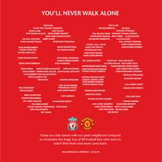 Hillsborough Tribute from Manchester United #MUFC #LFC #respect