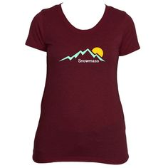 Snowmass, Colorado Mountain Sunset - Women's T-Shirt