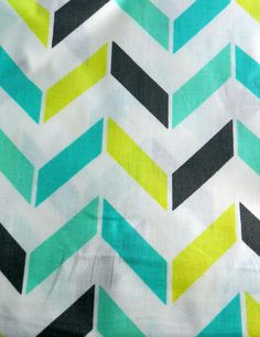 Turquoise and Green blocked Chevron
