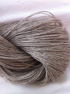 StickChick Etsy: Linen Lace Undyed Yarn, Natural Gray Gossamer Linen Yarn, $11.50/100g