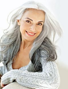Yasmina Rossi. I want my hair to look like hers when I'm old.